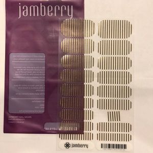 Jamberry Metallic Gold Pinstripe